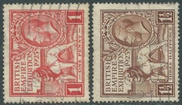 1925 GREAT BRITAIN USED BRITISH EMPIRE EXHIBITION SG 432/33 - RC1-10 - Oblitérés
