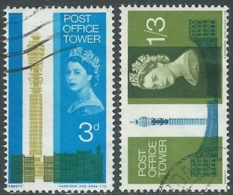 1965 GREAT BRITAIN USED OPENING OF POST OFFICE TOWER SG 679/80 - RC3-5 - 1952-.... (Elizabeth II)