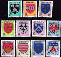 Jersey, 1981, 242/52, Freimarken: Familienwappen.  MNH ** - Jersey