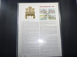 "BELG.1985 2193-2196 FDC Filatelic Gold Card NL. : "" SOLIDARITEIT 85  "" - FDC"