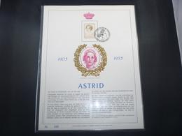 "BELG.1985 2183 FDC (Borgerhout) Filatelic Gold Card NL. : "" ASTRID 1905-1935 "" - FDC"