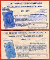 Publicité Verso Enveloppe CCP  Timbres Centenaire Naissance Charles De Gaulle France Et SPM - Documents Of Postal Services