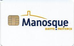 CARTE DE STATIONNEMENT CHIP CAR CARTE A PUCE MANOSQUE 04 ALPES DE HAUTE PROVENCE - Francia
