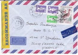 France, Lettre Recommandée De 1994,COMBANI,MAYOTTE ( MC2020.01/007) - Marcophilie (Lettres)