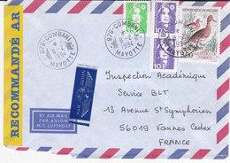 France, Lettre Recommandée De 1994,COMBANI,MAYOTTE ( MC2020.01/008) - Marcophilie (Lettres)