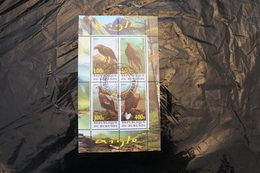 Burundi Eagles Fauna Bird Cancelled Souvenir Sheet Block 2009 A04s - Burundi