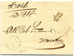 STORIA POSTALE LAGO DI COMO 1859 LECCO CORSIVO NERO CON DATA X MERATE - 1. ...-1850 Prefilatelia