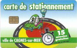 CARTE DE STATIONNEMENT CHIP CAR CARTE A PUCE CAGNES-SUR-MER  06 ALPES-MARITIMES - Francia