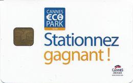 CARTE DE STATIONNEMENT CHIP CAR CARTE A PUCE CANNES COTE D'AZUR 06 ALPES-MARITIMES STATIONNEZ GAGNANT - Francia