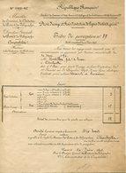 Ardennes.POSTES Et TELEGRAPHES. 1894. CHARLEVILLE. Droit D'usage Et Frais D'entretien De Lignes D'intérêt Privé - Francia