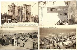 Lot 4 CPA BELGIQUE , KNOCKE Plage, BLANKENBERGHE Plage, KEMMEL Sommet Mont, GAND Chateau - Other