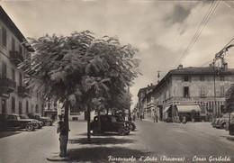 Emilia Romagna - Piacenza - Fiorenzuola D'Arda  - Corso Garibaldi  - F. Grande - Anni 50 - Molto Bella Con Auto - Italia