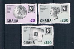 Ghana 1990 Briefmarken Mi.Nr. 1374/77/78 ** - Ghana (1957-...)