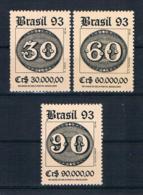 Brasilien 1993 Briefmarken Mi.Nr. 2526/28 Kpl. Satz ** - Brazilië