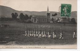 Cpa C6  SAINT-ETIENNE - Le Champ De Manoeuvres-belle Animation-église - Saint Etienne De Remiremont
