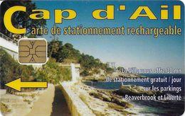 CARTE DE STATIONNEMENT CHIP CAR CARTE A PUCE VILLE DE CAP D'AIL  06 ALPES-MARITIMES - Francia