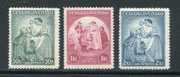 TCHECOSLOVAQUIE- Y&T N°303 à 305-  Neufs Avec Charnière * - Unused Stamps