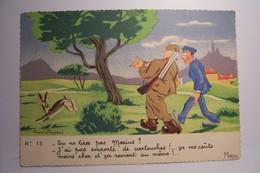 TU NE TIRES PAS MARIUS  ? - CHASSE     -  ( Bourgeois Fernand , Illustrateur )  - - Bourgeois