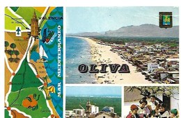 Cp-Espagne- Oliva- Diverses Vues ( écrite En 1978) - Espagne