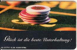 GERMANY(chip) - Roulette, Die Bayerischen Spielbanken(O 1717), Tirage 10000, 12/96, Used - Spelletjes