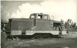 060120A TRANSPORT TRAIN CHEMIN DE FER - PHOTO BREHERET FONTAINE Circa 1950 - 40 MIMIZAN La Gare - Mimizan