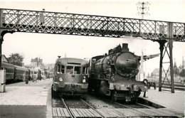 060120A TRANSPORT TRAIN CHEMIN DE FER - PHOTO BREHERET FONTAINE 1955 - 54 LUNEVILLE La Gare - Luneville