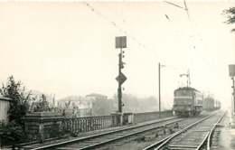060120A TRANSPORT TRAIN CHEMIN DE FER - PHOTO BREHERET CIRCA 1950 - 64 HENDAYE Pont Loco - Hendaye