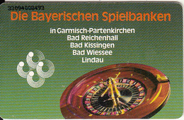 GERMANY(chip) - Roulette, Die Bayerischen Spielbanken(O 195), Tirage 10000, 08/93, Used - Spelletjes