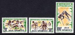 CENTRAL AFRICAN REPUBLIC - 1962 SPORTS SET (3V) FINE MNH ** SG 27-29 - Central African Republic