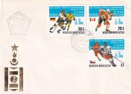 Mongolia 1979 Cover; Ice Hockey Sur Glace Eishockey; IIHF World Championship Moscow; Germany Canada Czechoslovakia Team - Hockey (Ice)