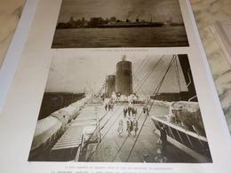 AFFICHE PHOTO 1 ER ARRIVE A NEW YORK  PAQUEBOT ILE DE FRANCE  1927 - Bateaux