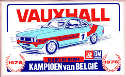 Sticker - Kampioen Van België 1976 - VAUXHALL - Michel DE DEYNE - Dealer Team Vauxhall Gulf - Stickers