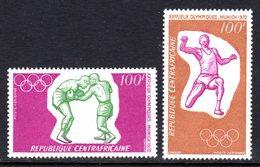 CENTRAL AFRICAN REPUBLIC - 1972 MUNICH GAMES SET (2V) FINE MNH ** SG 275-276 - Central African Republic