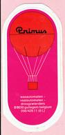 Sticker - Primus Luchtballon - Wasautomaten Droogzwierders - GULLEGEM - Stickers