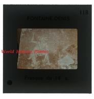 Photo Ancienne Diapositive - FONTAINE DENIS - Fresque Ancienne Du 14e Siécle - P. Bethon Barbonne Fayel Nuisy - Diapositive