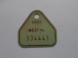 FIETSPLAAT / PLAQUE Vélo ( WEST - VLAANDEREN > N° 334441 ) Anno 1986 ( België ) ! - Kennzeichen & Nummernschilder