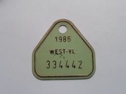 FIETSPLAAT / PLAQUE Vélo ( WEST - VLAANDEREN > N° 334442 ) Anno 1986 ( België ) ! - Kennzeichen & Nummernschilder
