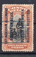 CONGO - EAAOB - COB RU 35 A Short  - Obl Rectangulaire (cachet Allemand Sur Télégramme)  - KV2 - 1916-22: Usados