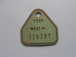 FIETSPLAAT / PLAQUE Vélo ( WEST - VLAANDEREN > N° 326281 ) Anno 1986 ( België ) ! - Plaques D'immatriculation