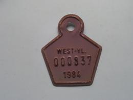 FIETSPLAAT / PLAQUE Vélo ( WEST - VLAANDEREN > N° 000837 ) Anno 1984 ( België ) ! - Plaques D'immatriculation