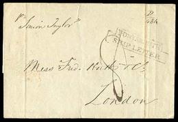 "MACAU. 1843.  (Nov 13).  Macao To London.  E. With Pmk. On Front ""Portsmouth/Ship Letter "" (**), Mns. Per ""Union Taylor"" - Macau"