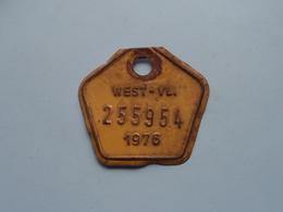 FIETSPLAAT / PLAQUE Vélo ( WEST - VLAANDEREN > N° 255954 ) Anno 1976 ( België ) ! - Plaques D'immatriculation