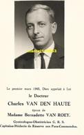Docteur Charles Van Den Haute - Gynécologue Capitaine Médecin Para Commando - Décès