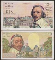 10 Nouveaux FRANCS 1959 FRANCE - Richelieu - P142 (L.3) 1er Jour - 1959-1966 Francos Nuevos