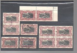 CONGO - COB 69 - 2 (X) + 9 Obl - Variétés De Nuances / Shades - Planches - Fumée Blanche / Noire  - Bloc KIKONDJA - KV2 - 1894-1923 Mols: Used