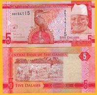 Gambia 5 Dalasis P-31 2015 UNC Banknote - Gambia