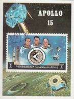 Ajman 1972 Bf. 345B Space Apollo 15 Luna Moon Sheet Imperf. CTO - Ajman