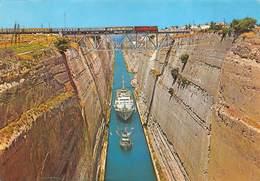 Greece Train Trein The Channel Het Kanaal Boot Schip Korinth Corinth Corinthe Canal     Barry 4540 - Grèce