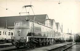 060120B - PHOTO BREHERET TRANSPORT TRAIN CHEMIN DE FER - Circa 1950 Train Loco SNCF 2D2-5423 - Stations With Trains