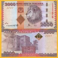 Tanzania 2000 Shillings P-42b 2015 UNC Banknote - Tanzanie